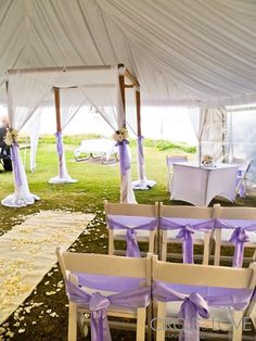 tent♡ wedding.. Love the carpet, not a fan of the purple though!
