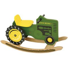 Fun and fantasy unite in this this KidKraft John Deere Rocking Tractor. Finished in John Deere's signature yellow and green, this rocker will make your child feel like they are riding on the real deal.