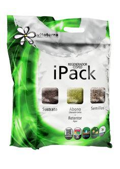 iPack regenerador de césped. Sustrato+abono césped+semillas césped.