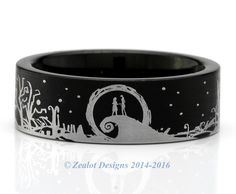 Nightmare before Christmas wedding bands | nightmare wedding ...