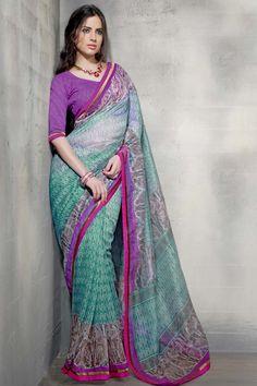 Rama Net Trendy Casual Saree