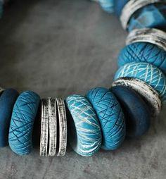 Beyond Easy Textured Polymer Beads.  #DIY