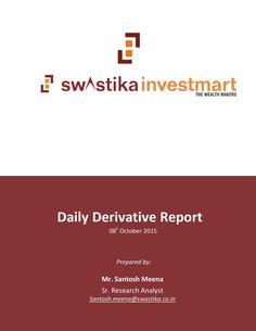 Daily derivative report for 08th oct 2015
