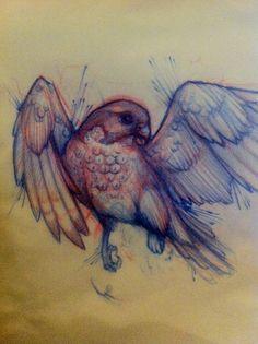 tattoo – Vogel Tattoo Skizze. Sehr hübsch. Fast Wasserfarbe vol 2279 | Fashion…