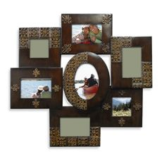 Antique Black Scroll Family 5Opening Collage Frame Bed Bath