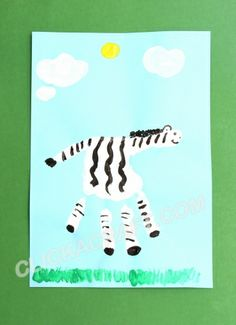 Handprint Zebra - Click on image to see step-by-step tutorial.