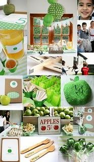the apple of my eye party theme