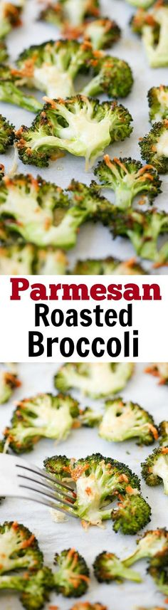 Parmesan Roasted Broccoli – easy delicious roasted broccoli recipe, with Parmesan cheese. 5 mins prep and 20 mins to table. (Cheese Snacks Thanksgiving)