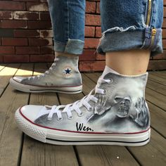 Design Hand Painted Shoes Unisex Converse All Star Zombie Skull Canvas Sneakers Converse Style, Converse All Star, Converse Shoes, Fly Shoes, Cute Shoes, Me Too Shoes, Vans Custom, Custom Sneakers, Graffiti Shoes
