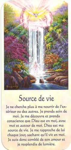 Source de vie Positive Thoughts, Positive Vibes, Messages Spirituels, Visionary Art, Heaven On Earth, Archetypes, Jesus Loves, Self Development, Positive Affirmations
