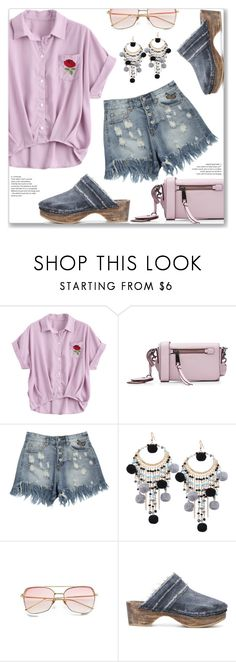 """""""Casual Chic"""" by jecakns ❤ liked on Polyvore featuring Marc Jacobs, MM6 Maison Margiela, Summer, casual, blouse, denimshorts and zaful"""