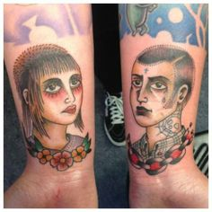Skinhead Couple Tattoo
