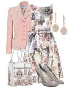 minus the jacket this outfit would be perfect for a wedding!