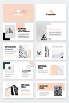 Business Power Point Presentation Template - Keynote - Ideas of Keynote - PowerPlan Business PowerPoint Presentation Template Portfolio Design Layouts, Page Layout Design, Brochure Design Inspiration, Layout Inspiration, Architecture Portfolio Layout, Design Portfolios, Interior Architecture, Poster Design, Poster Layout