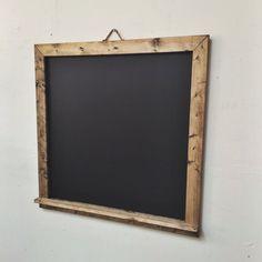 "Hand Made Rustic Large Angle Framed Chalkboard with Ledge 24"" x 24"" – Bushel Basket Home Decor"