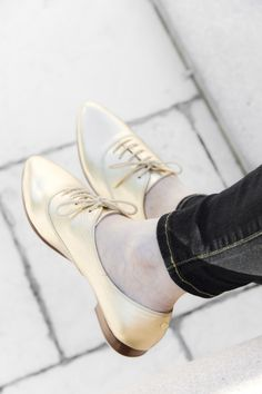 Kate Spade metallic oxfords @Nordstrom