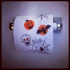 Halloween toilet paper #halloween #toiletpaper #bathroom #scary