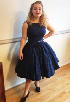 by Amber Middaugh 2015 ---  This is ChicStar.com s  Printed Sleeveless Belted Dress $43.95.  With ChicStars Double Full Petticoat $59.95  supporting the full skirt.