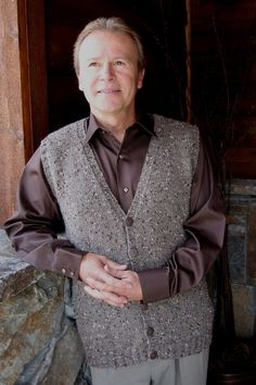 Knitting Pure and Simple--Diane Soucy--Basic Cardigan Vest for Men