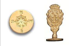 Wax Seal Compass- Brass Handle Stamp