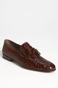 Free shipping and returns on Magnanni 'Oscar' Woven Tassel Loafer (Online Only) at Nordstrom.com. Rich leather strips are woven into a sleek, classic loafer topped with matching leather tassels.