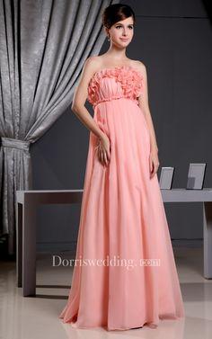 #Valentines #AdoreWe #Dorris Wedding - #Dorris Wedding Strapless Chiffon Pleated Dress With Flower and Embroideries Waist - AdoreWe.com