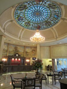The lobby at the Camino Real in Guatemala City
