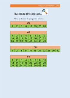 44 Ideas De Multiplos Y Div Multiplos Y Divisores Divisibilidad Matematicas
