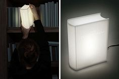 Una lámpara de led que parece un libro luminoso. Un guiño divertido para tener en la biblioteca. Foto:bonjourlife.com