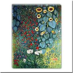 Farm Garden With Flowers Oil Painting by Gustav Klimt Free Shipping