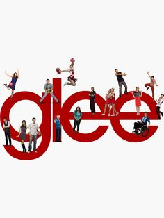 'glee logo with the cast' Sticker by smgddlkeh Photo Wall Collage, Picture Wall, For Elise, Glee Club, Naya Rivera, Iphone Background Wallpaper, Draco Malfoy, Cute Stickers, Movies And Tv Shows