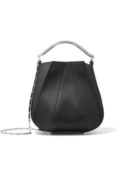 Neiman Marcus Eddie Borgo Soft Rubber Green Oilve Tote Shoulder Hand Bag women