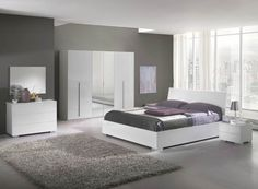 Chambre parentale blanche et grise | Chambre | Pinterest ...