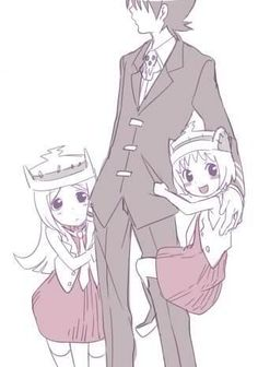 Kid and little Patty and little Liz - Soul Eater