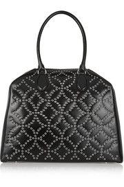 Trapeze Arabesque embellished leather tote