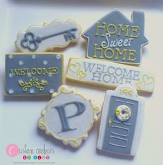 1 DOZEN - Home House Warming Welcome Key Moving Decorating Cookies