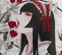 Illustration Girl, Character Illustration, Anime Art Girl, Manga Girl, Cat Anime, Poses Anime, Geisha Art, Amazing Drawings, Beautiful Anime Girl