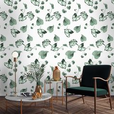 With this custom designed tropical leaves wallpaper mural you can create a magical atmosphere in any part of your home. It is available in three colours. Leaves Wallpaper, Tropical Garden, Tropical Leaves, Pattern Wallpaper, Custom Design, Colours, Living Room, Patterns, Bedroom