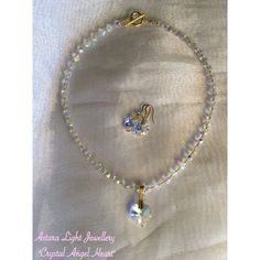 Angelic Crystal Heart necklace $50