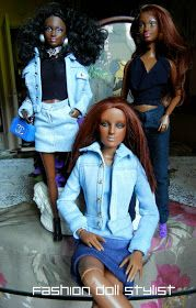 Sewing patterns for jeans jacket, jeans & denim skirt - Fashion Doll Stylist