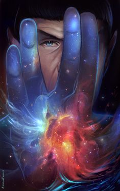One with the Universe by AlectorFencer.deviantart.com on @DeviantArt His tribute to a prospering and inspiring man. Rest in peace, Leonard Nimoy.