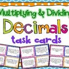 A set of 32 multiplying and dividing decimals task cards for your students to practice their decimal computation skills!  You can use these in math...