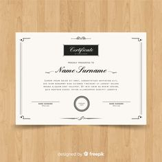 certificates Elegant certificate template Free Vector, Tips For Selecting A Good Day C Ad Design, Book Design, Layout Design, Design Ideas, Graphic Design, Letterhead Template, Brochure Template, Flyer Template, Birthday Certificate