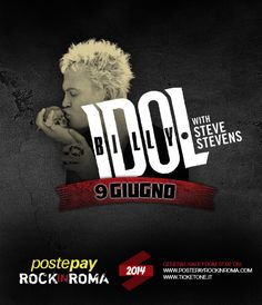 Billy Idol with Steve Stevens 9 giugno 2014 Postepay Rock in Roma