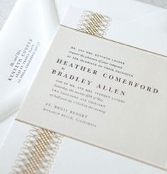 A touch of gold foil on the invitations!