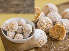 Trufas Cruas de Cenoura e Coco  #raw #snack #carrot #bio
