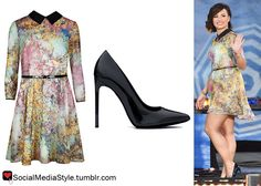 Buy Demi Lovato's Good Morning America Floral Tree Print Dress and Black Pumps, here!