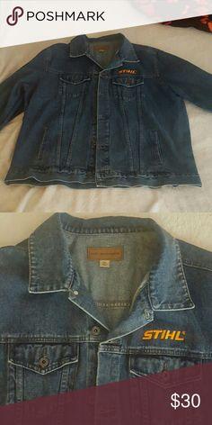 bc8f56ba582 Men s denim jacket MEN S 2X STHIL JACKET. NEVER WORN. Stihl Jackets  amp   Coats