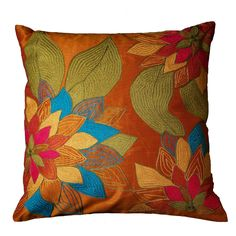 Home & Garden Ottomans, Footstools & Poufs Indian Embroidered Traditional Square Floor Seating Cushion Cover 18x18x5 Finely Processed