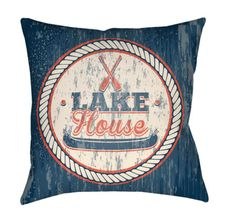 "Buy the Surya Light Blue Direct. Shop for the Surya Light Blue Litchfield Wide Square Novelty ""Lake House"" Polyester Outdoor Accent Pillow Cover and save. Grey Pillow Covers, Outdoor Pillow Covers, Blue Pillows, Linen Pillows, Throw Pillows, Rustic Winter Decor, Red Poppies, House, Ebay"